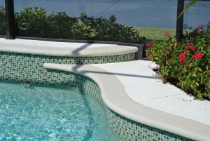 1 inch tile with 6 inch raised deck