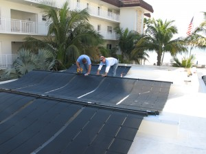 Lido Beach Swimming Pool Solar heating system