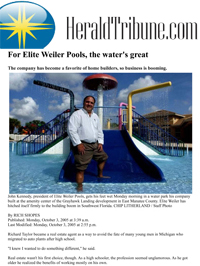 Elite-Weiler Pools in the news. The water's great!