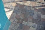 4 and 6 inch multi color paver deck with brick coping