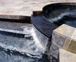Custom Residential Pool with ebony spa
