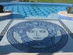 Custom Residential Pool with mozaic tile