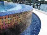 Residential Pool with disappearing edge and custom tile