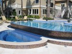 Luxury Residential Pool & with infinity edge and custom tile