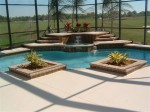 Custom Swimming Pool with view of Golf Course