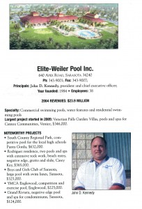 Elite Weiler Pools is named in top 30 Contractors by Gulf Coast Business Review