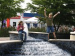 Kids playing in Downtown Fountain - Links Park - Sarasota, Florida