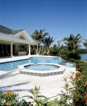 Custom Residential negative edge pool and spa