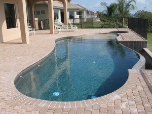 Luxury Pool with disappearing edge