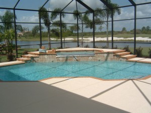 Custom Residential Pool & Spa with tiled walls