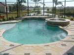 Custom Residential Pool & Spa with fountain