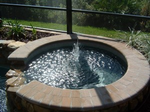 Residential Spa with Fountain