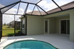 Bronze mansard style pool cage