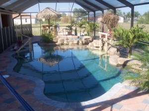 Custome pool with rock features