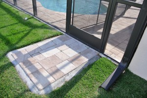 Entry pad with pavers
