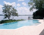 custom residential disappearing edge pool
