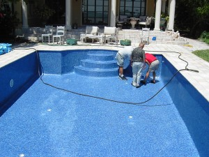 Tiled pool construction - inspection