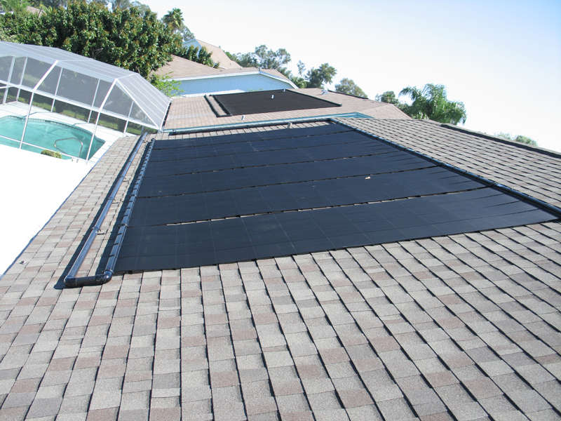 close up of solar hot water system - Elite Weiler Pools