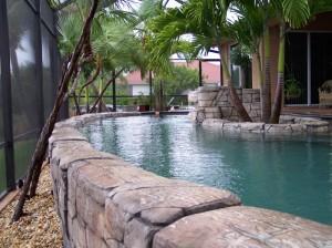 Rock wall pool