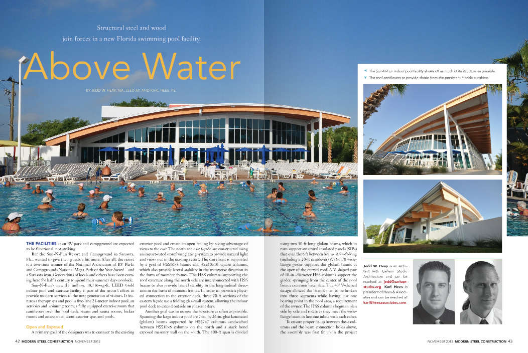 Elite Weiler Pools Featured in Modern Steel Construction Magazine